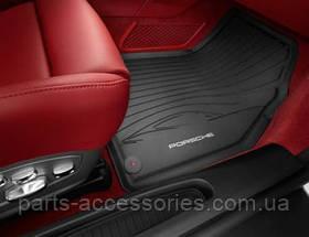 Porsche Cayenne 958 2011-16 коврики резиновые передние задние новые оригинальные