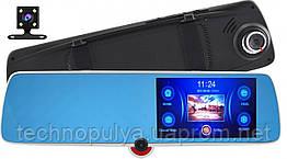 """Зеркало-видеорегистратор DVR C33 с тремя камерами 5"""""""