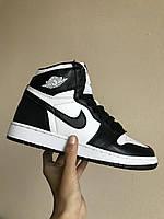 Кроссовки мужские, женские Nike Air Jordan 1 Retro White Black - Найк Джордан
