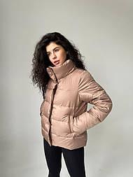 Весенняя женская курточка L, капучино
