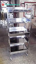 Столики з нержавійки на 5 полиці