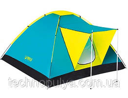 Палатка кемпінгові тримісна одношарова з тамбуром Bestway 68088 Cool Ground