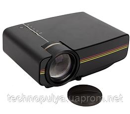 Проектор мультимедійний з динаміком LEJIADA Led Projector YG400 Black (010742)