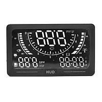 Автомобільний проектор панелі приладів на лобове скло RIAS A200 HUD OBD II Black (2_002451)