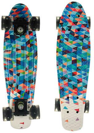 Скейт Пенни борд Penny Board Принт 22 LED колеса - Пенні борд 54 см, фото 2