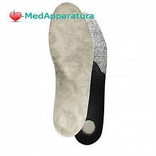Стелька зимняя с разгрузкой пяточной шпоры Lucky Step LS342, 35-48 размер, белый/черный