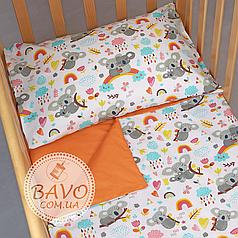 Детское постельное белье в кроватку для новорожденных, комплект в детскую кроватку для новорожденных Коалы