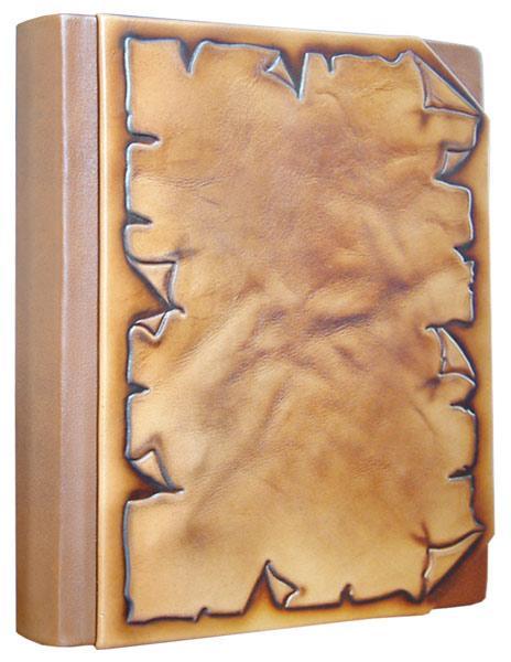 """Щоденник А5 формату в шкіряній палітурці """"Пергамент"""""""