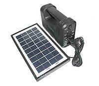 Фонарь на аккумуляторе +на солнечной батарее GD-8076