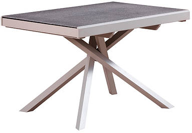 Стол раскладной RF 1102 ADT 120/212 см  стекло + камень серый ТМ Daosun