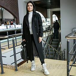Женское качественное фабричное демисезонное полушерстяное пальто с поясом на пуговицах
