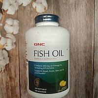 GNC Fish Oil 360 caps Lemon Flavor , омега 3 рыбий жир