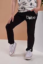 Детские спортивные штаны черные для девочки Минни Маус 1/3 года