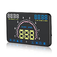 Автомобільний проектор панелі приладів на лобове скло RIAS E-350 HUD OBD II Black (2_002451)