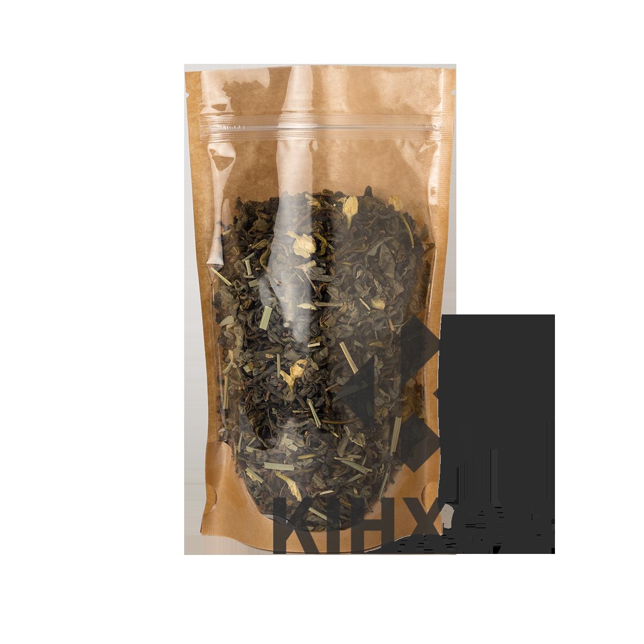 Пакет Дой-Пак 100*170 дно (30+30) крафт с прозрачной стороной