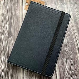 Чехол книга для планшета 7 дюймов синяя универсальная чехол книжка с крючками подставка