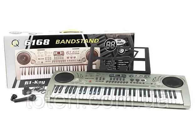 Піаніно, синтезатор 61 клавіша запис демо, навчання MQ6168 від батарейок/мережі.Мікрофон Т