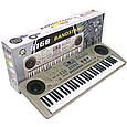 Піаніно, синтезатор 61 клавіша запис демо, навчання MQ6168 від батарейок/мережі.Мікрофон Т, фото 3