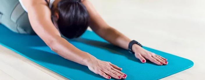 Килимок для йоги та фітнесу Hatha Yoga 6 мм, фіолетовий + Подарунок чохол, фото 2