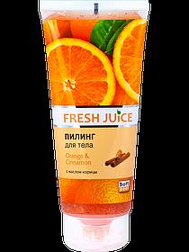 Пілінг для тіла. Апельсин і кориця 200 мл Fresh Juice