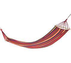 Хлопковый подвесной гамак с деревянными планками,  размер 250*100 см, фото 2
