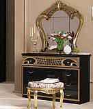 Дзеркало в спальні, в передпокій Реджина Чорна RG-81-BG MiroMark золотистий, фото 3