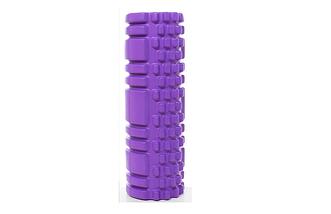Масажний валик (ролик) для йоги та фітнесу / Пінний масажний рол, кольори рожевий, синій, червоний, фото 3