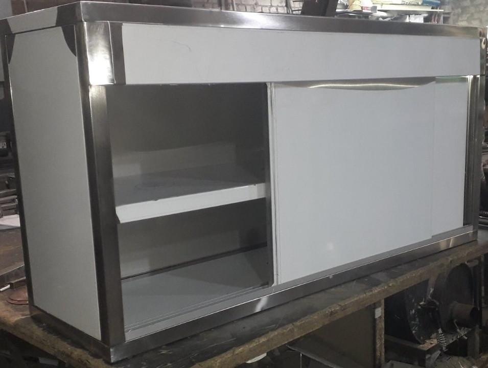 Шкаф навесной  из 201 нержавеющей стали 1500х350х600