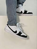 Баскетбольні кросівки Air Jordan 1 Retro Low Black/White, фото 3