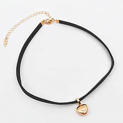 """Колье-чокер с подвеской """"Сердце"""" Xuping из медицинского золота, позолота 18K, 63503"""