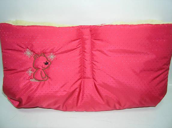 Муфта меховая для детской коляски и санок, фото 2