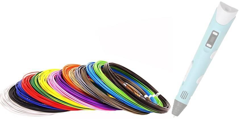 Пластик PLA для 3D ручки (20 кольорів по 10 м)