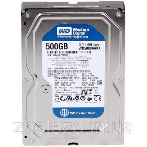 Накопитель HDD SATA 500GB WD Blue 7200rpm 16MB (WD5000AAKX) гар. 12 мес. Refurbished, фото 2