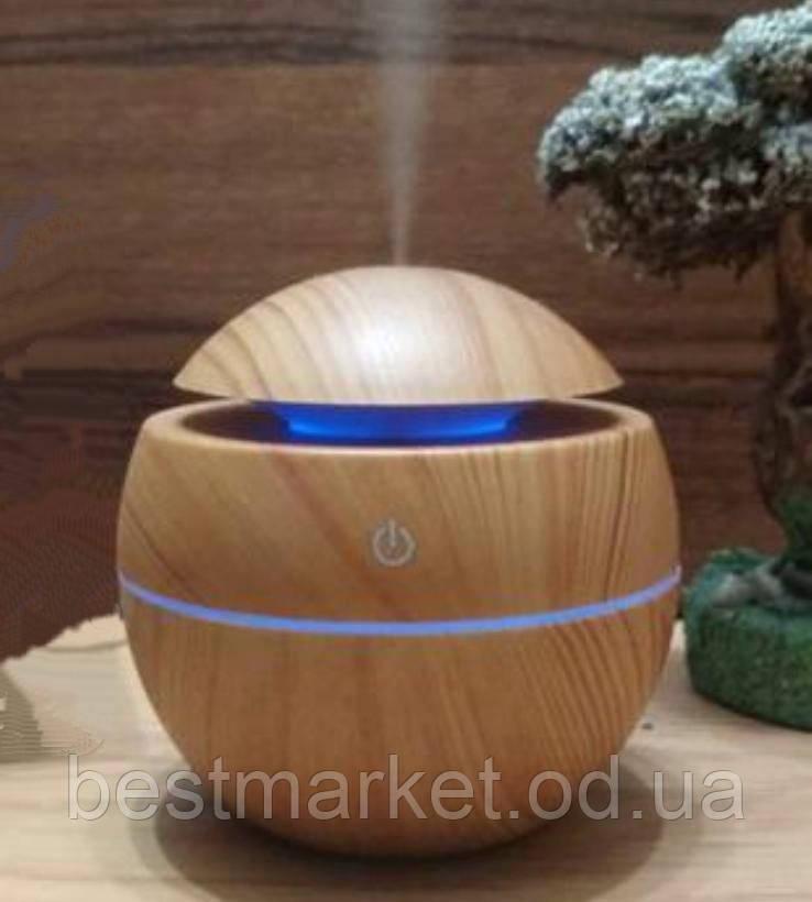 Зволожувач Повітря Air Purifier Арома Лампа з LED Підсвічуванням від USB