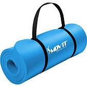 Синій пеновый мат 183x60x1.0см для вправ / гімнастики / фітнес / йога Польща Тільки бренди ЕС