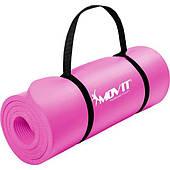 Рожевий пеновый мат 183x60x1.0см для вправ / гімнастики / фітнес / йога Польща Тільки бренди ЕС