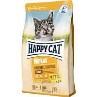 Корм Хепі Кет Минкас Хеербол 4 кг з птахом для виведення волосяних грудок у кішок