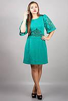 Модное женское платье с перфорацией