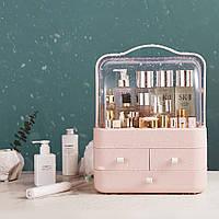 Органайзер для косметики настольный Двухъярусный бокс Cosmetic Storage Box LD-288 Розовый