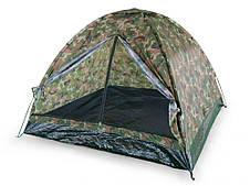 4-х местная туристическая палатка камуфляжная москитная сетка 200x200 см Польша