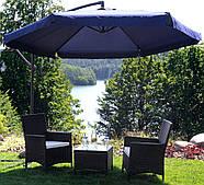 Складной садовый зонт с боковым удлинителем Польша