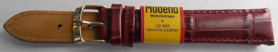 Ремешок кожаный Modeno (Испания) 18 мм красный