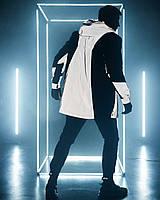 Парка мужская демисезонная до - 5*С рефлективная | Куртка ветровка удлиненная весенняя осенняя ЛЮКС качества