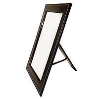Раскладное торговое зеркало Кожаная Книжка 26см с подставкой