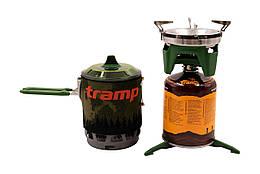 Система для приготовления пищи на 0,8 л TRG-049-oliva. Горелка туристический. Горелка