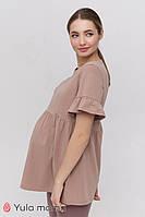 Летняя туника для беременных и кормления MISTY TN-21.022 капучино