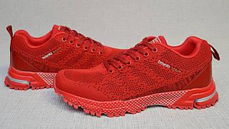 Яркие красные молодёжные кроссовки