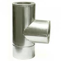 Ø100/200 Тройник 87* к/к  нержавеющая AISI 321 сталь