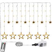 Оконная завеса 12 звезд 150 светодиодов рождественское дерево лампы теплый белый Польша