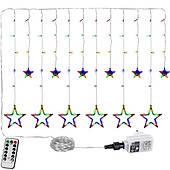 Многоцветная окна 12 звезд 150 светодиодов рождественские лампы Польша